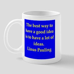 Linus Pauling quotes Mug