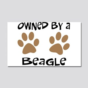 Owned By A Beagle Car Magnet 20 x 12
