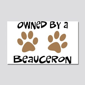 Owned By A Beauceron Car Magnet 20 x 12