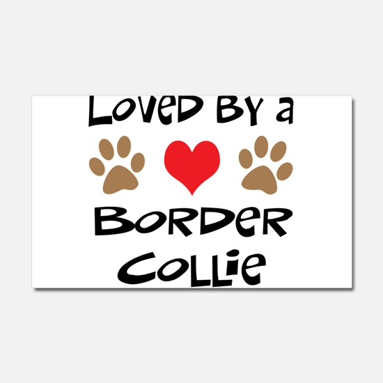 Loved By A Border Collie Car Magnet 20 x 12