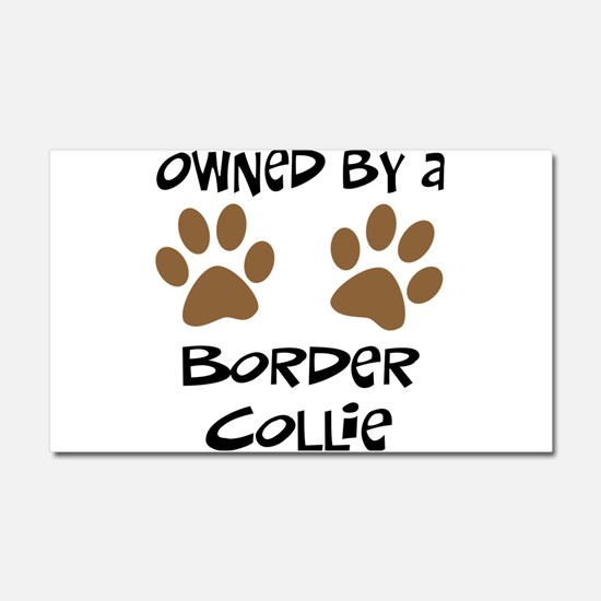 Owned By A Border Collie Car Magnet 20 x 12