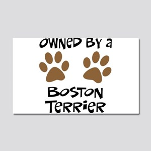 Owned By A Boston Terrier Car Magnet 20 x 12