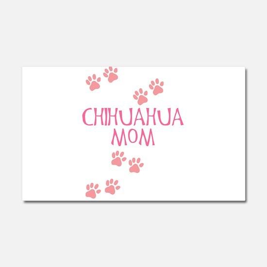 Pink Chihuahua Mom Car Magnet 20 x 12