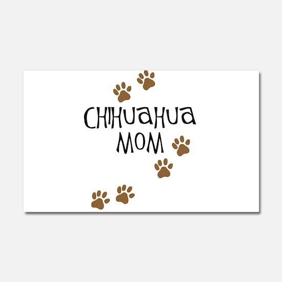 Chihuahua Mom Car Magnet 20 x 12