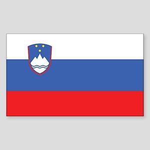 Slovenia Civil Ensign Rectangle Sticker