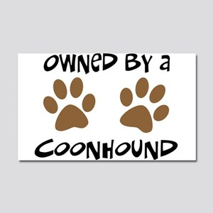 Owned By A Coonhound Car Magnet 20 x 12