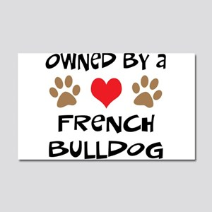 Owned By A French Bulldog Car Magnet 20 x 12