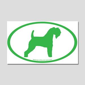 Green Kerry Blue Oval Car Magnet 20 x 12