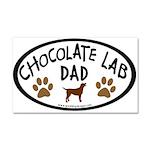 Chocolate Lab Dad Car Magnet 20 x 12