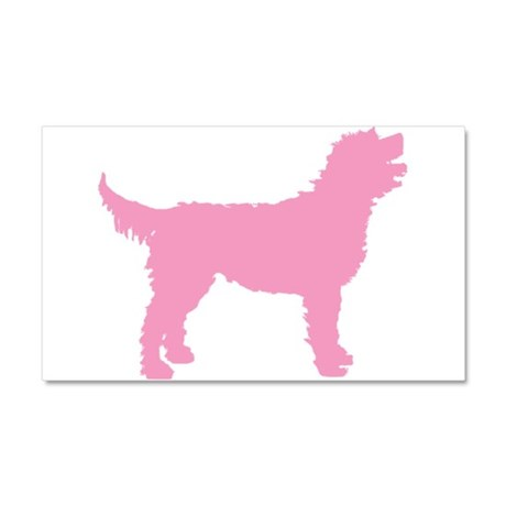Pink Labradoodle Car Magnet 20 x 12