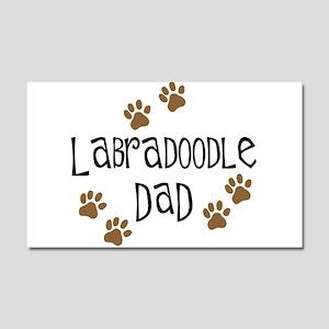 Labradoodle Dad Car Magnet 20 x 12
