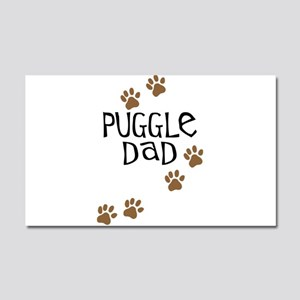 Puggle Dad Car Magnet 20 x 12