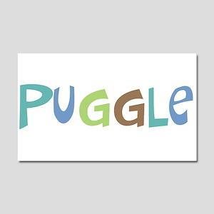 Puggle (Text) Car Magnet 20 x 12