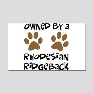 Owned By A Rhodesian... Car Magnet 20 x 12