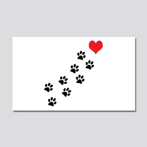 Paw Prints To My Heart Car Magnet 20 x 12