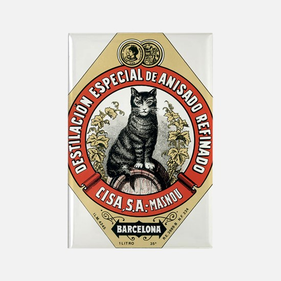 Barcelona Cat Rectangle Magnet