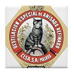 Barcelona Cat Tile Coaster