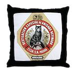 Barcelona Cat Throw Pillow
