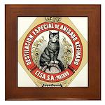Barcelona Cat Framed Tile
