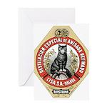 Barcelona Cat Greeting Card
