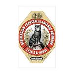 Barcelona Cat Sticker (Rectangle 10 pk)