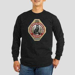 Barcelona Cat Long Sleeve Dark T-Shirt