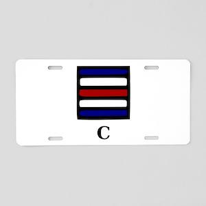 Nautical Letter C Aluminum License Plate