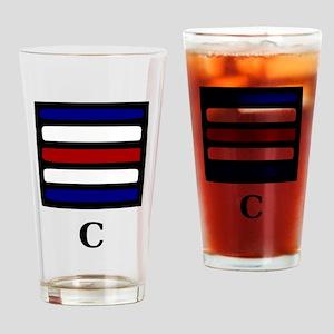 Nautical Letter C Pint Glass