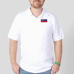 Slovakia Flag Golf Shirt