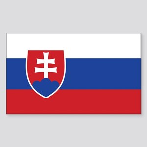 Slovakia Flag Rectangle Sticker