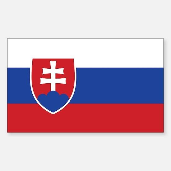 Slovakia Flag Rectangle Decal