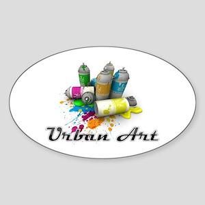 Urban Art Sticker (Oval)