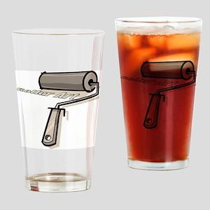 Roller Art Drinking Glass