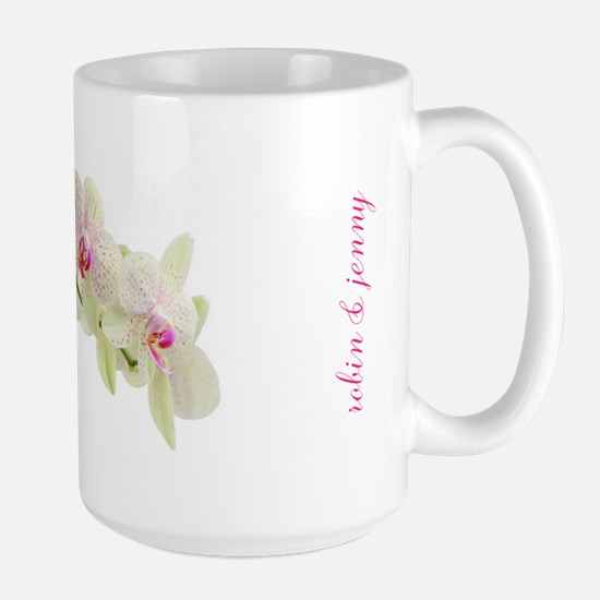Personalised Orchid Mugs