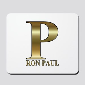 Gold P for Ron Paul 2012 Mousepad