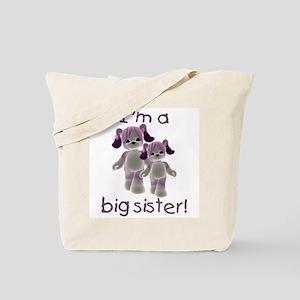 I'm a big sister (purple puppy) Tote Bag