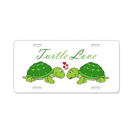 Turtle Love Aluminum License Plate