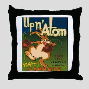 Boxing Rabbit Throw Pillow