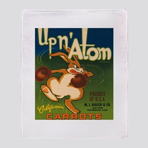 Boxing Rabbit Throw Blanket