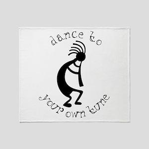 Kokopelli Dance to Your Own Tune Throw Blanket