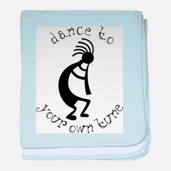 Kokopelli Dance to Your Own Tune baby blanket