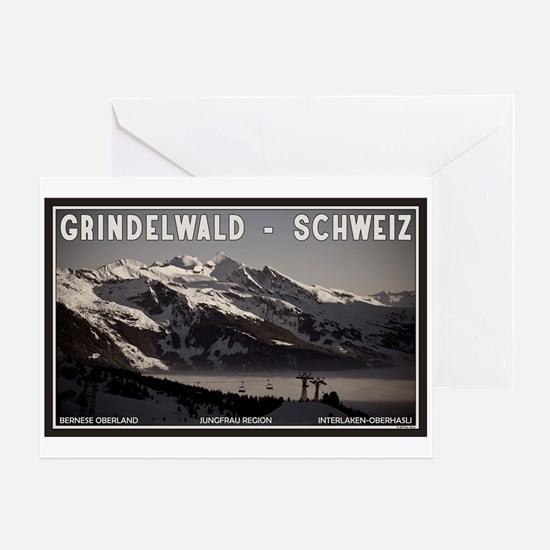 Grindelwald Fog Greeting Card