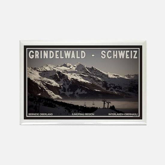 Grindelwald Fog Rectangle Magnet