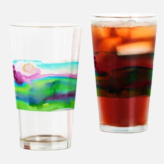 Watercolor, landscape, art, Drinking Glass