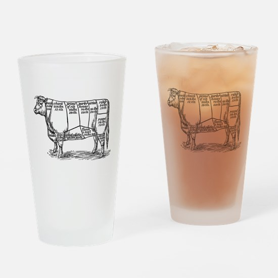 Cuts of Beef Drinking Glass