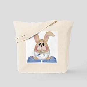 Baby Bunny Boy Tote Bag