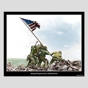 Raising the Flag on Iwo Jima - Colorized (16x20)