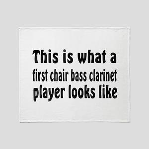 Bass Clarinet Throw Blanket