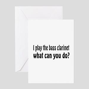 Bass Clarinet Greeting Card