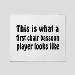 Bassoon Throw Blanket